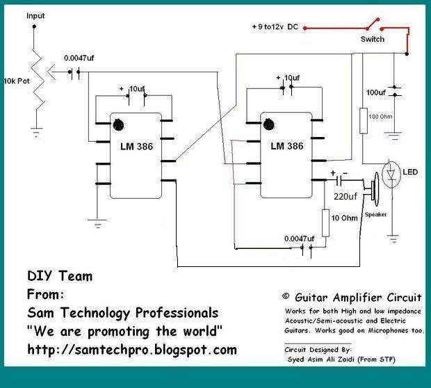 Portable Guitar Amplifier Diy Diy Guitar Amp Diy Guitar Pedal Diy Amplifier