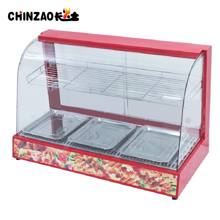Countertop Hot Food Showcase Electric Food Warmer Cabinet Hot Meals Commercial Kitchen Equipment Food Warmer Display