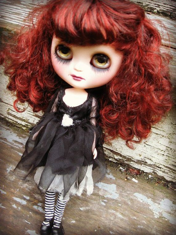 RESERVED   On Layaway  OOAK Custom Gothic ICY Doll  by cindysowers, $87.50