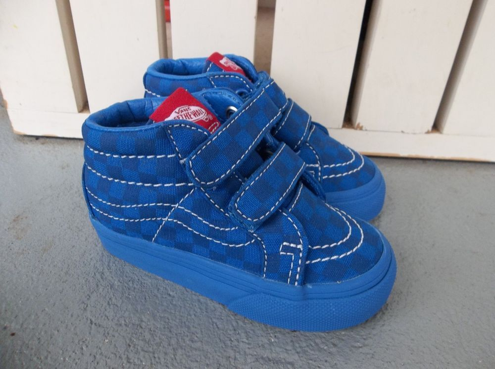8df8178471a3 NWT VANS BOYS TODDLER SK8-MID REISSUE V CHECKERBOARD SNEAKERS SHOES.SIZE 5
