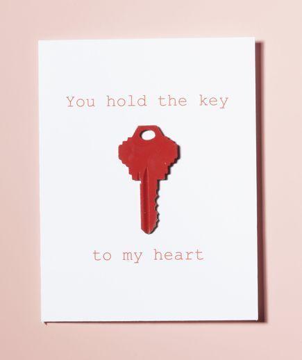 Image result for DIY key valentine card