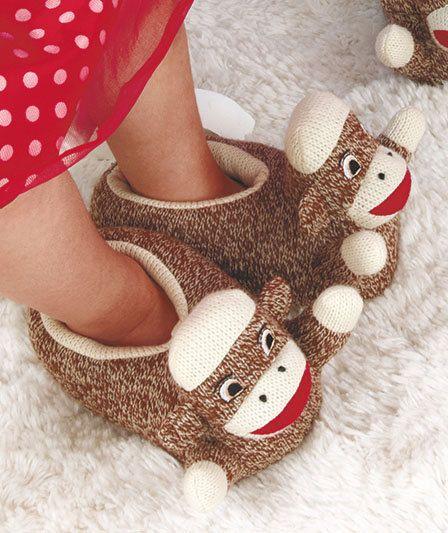 sock monkey bedroom slippers my neice would love these kicks pinterest monkey bedroom