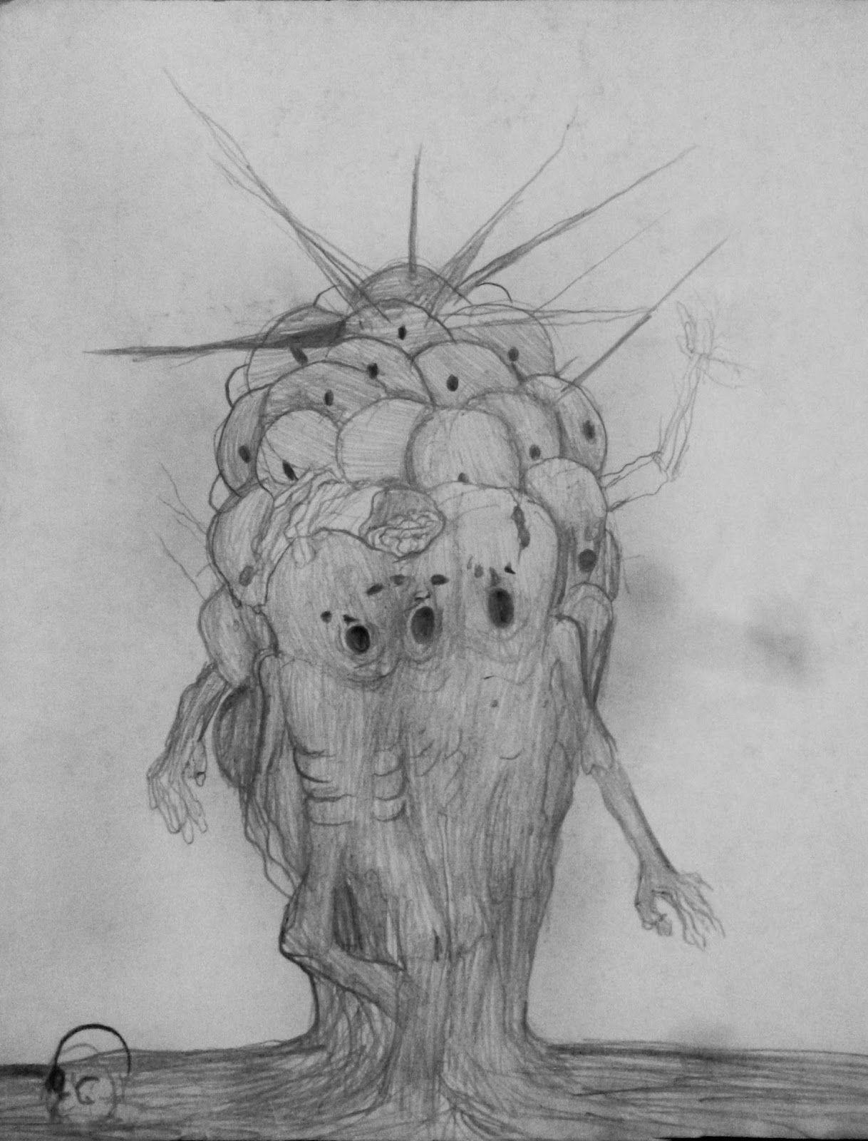 Dibujos Locos Y Raros A Lapiz Faciles Buscar Con Google Art Humanoid Sketch