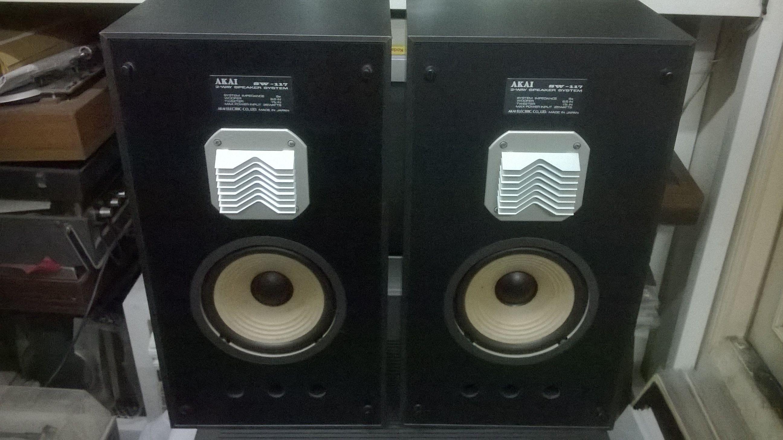 Akai Japan Sw 117 2 Way Speakers System Music System Vintage Music Vinyl Records
