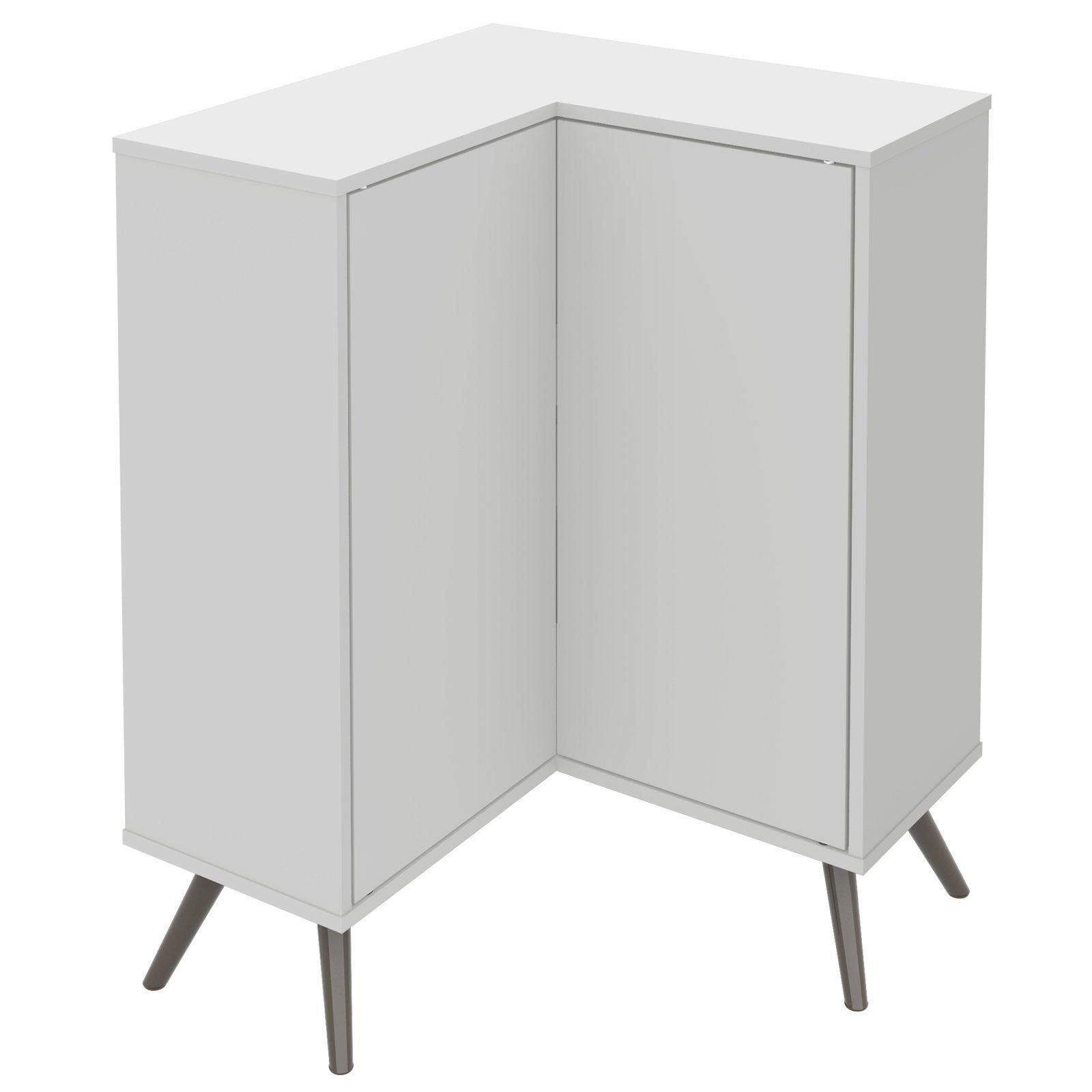 Bestar Small Space Krom Corner Accent Cabinet Corner Storage