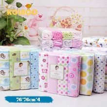 4 pçs/lote recém-nascido de cama 100% algodão macio berço folha de 76 x 76 cm conjunto de cama infantil berço / meninas(China (Mainland))