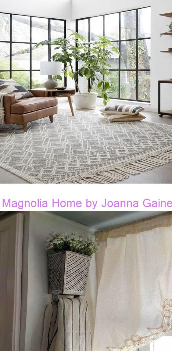 Magnolia Home by Joanna Gaines Holloway Yh-04 Black/Ivory 11 Simple Home Decoration Ideas for Your Kitchen #rustichomedecor