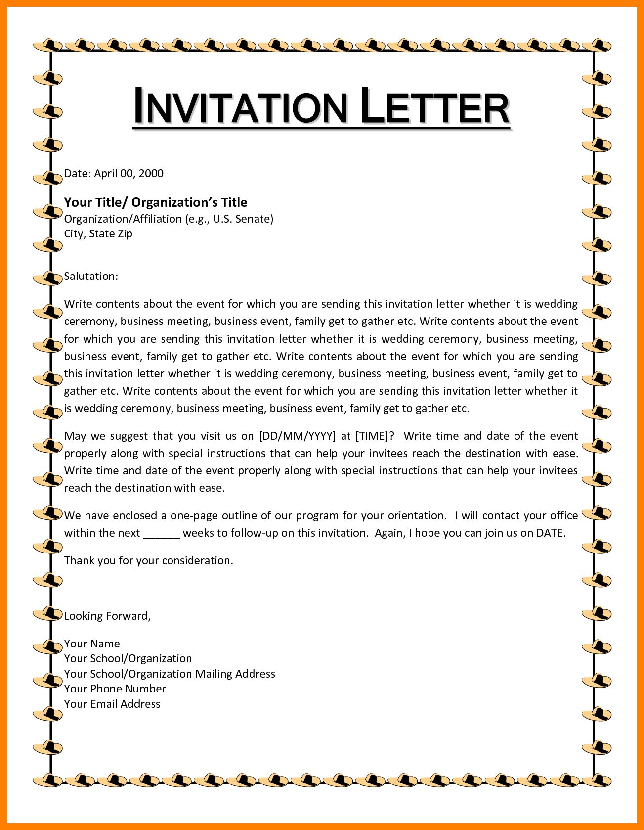 Letter Of Invitation Birthday Check More At Http Www