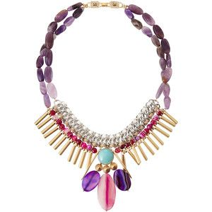 Lydell NYC Woven Tiered Crystal Statement Necklace