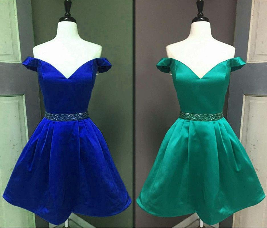 Royal Blue Homecoming Dresses V Neck Prom Short Dresseselegant