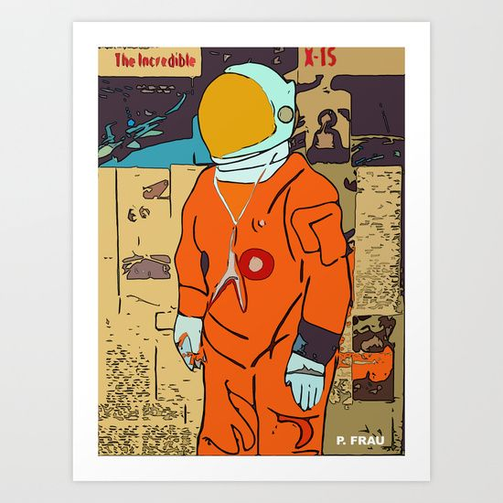 Reaching Space Art Print by PALEOMODERN - $14.48