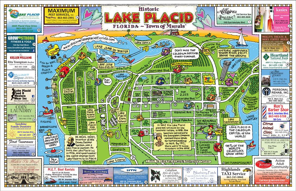 Fun Maps USA - Lake Placid, FL | Write | Lake placid florida ...