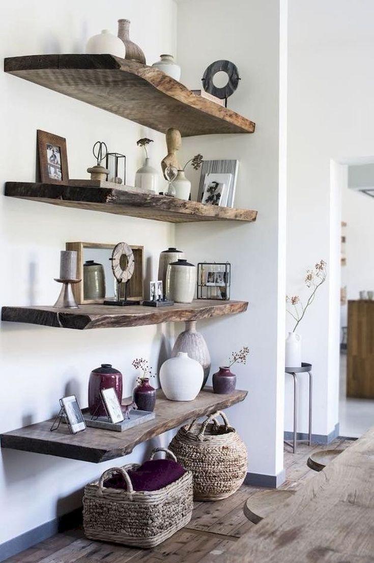 Hochfunktionelles schwebendes Regal für das Wohnzimmer #livingroomideas
