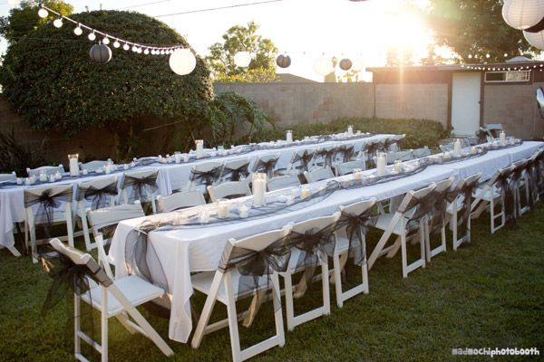 Beautiful Backyard 60th Birthday Party