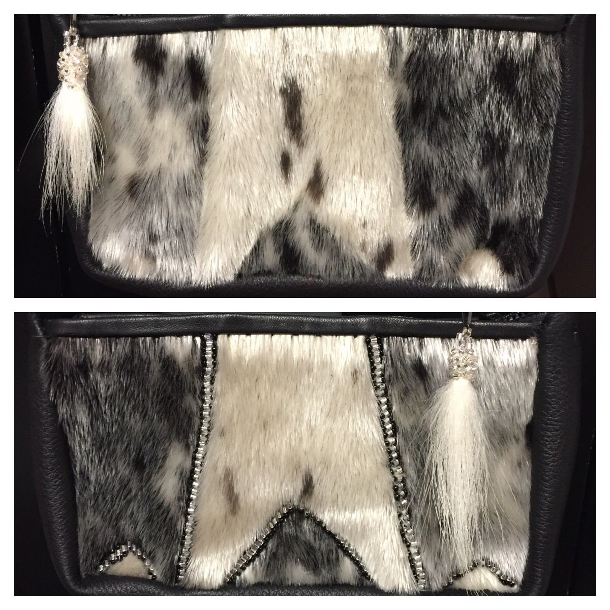 847f0a194eb9 Designed and sewed a couple more sealskin purses with beaded polar ...