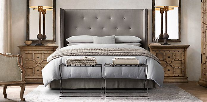 Morrison Tufted Shelter Bed Collection | Restoration Hardware Master Bedroom,  Home Decor Bedroom, Guest