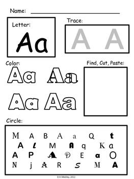 Super Simple ABC: Alphabet Letter Worksheets, NO PREP