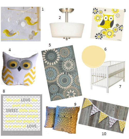 baby nursery yellow grey gender neutral. Nursery Inspiration - Sweet Little Nest Yellow And Grey, Gender Neutral, Owls, Ikea Baby Grey Neutral