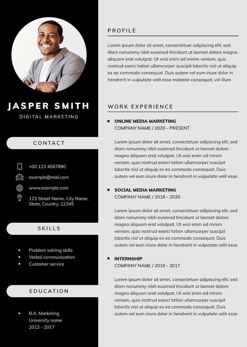 Download Premium Illustration Of Professional Business Editable Cv In 2021 Cv Template Free Downloadable Resume Template Free Resume Template Download Professional resume template free download