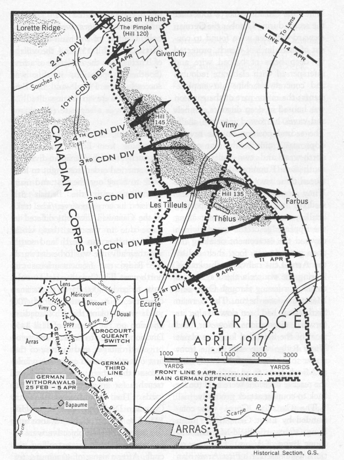 Map Of France Vimy.Vimy Ridge Is Located In The North Of France The Battle Was Along