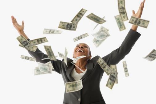 Money Raining Down On Me My Global Business Winning The Lottery