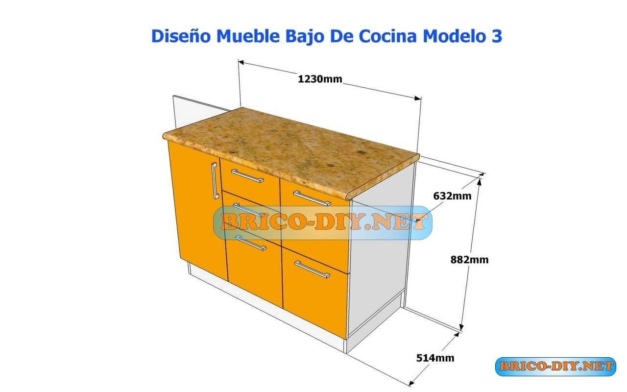 Diseños De Muebles Bajos De Cocina En MDF Madera y Melamina ...