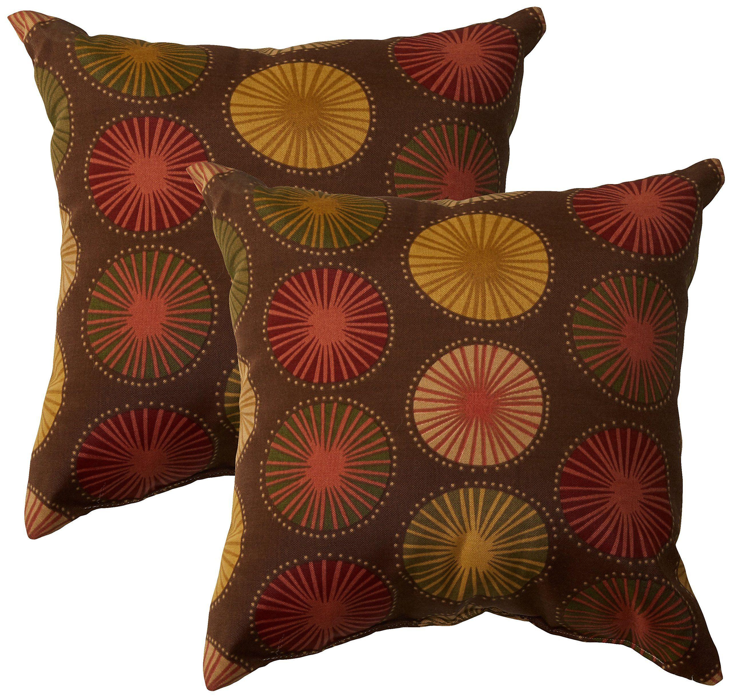 Tkc Pillow Brnsunb 18x18 2x Outdoor Throw Pillow Set Of 2 Sunburst Lavorist Outdoor Throw Pillows Patio Decor Backyard Furniture Decor