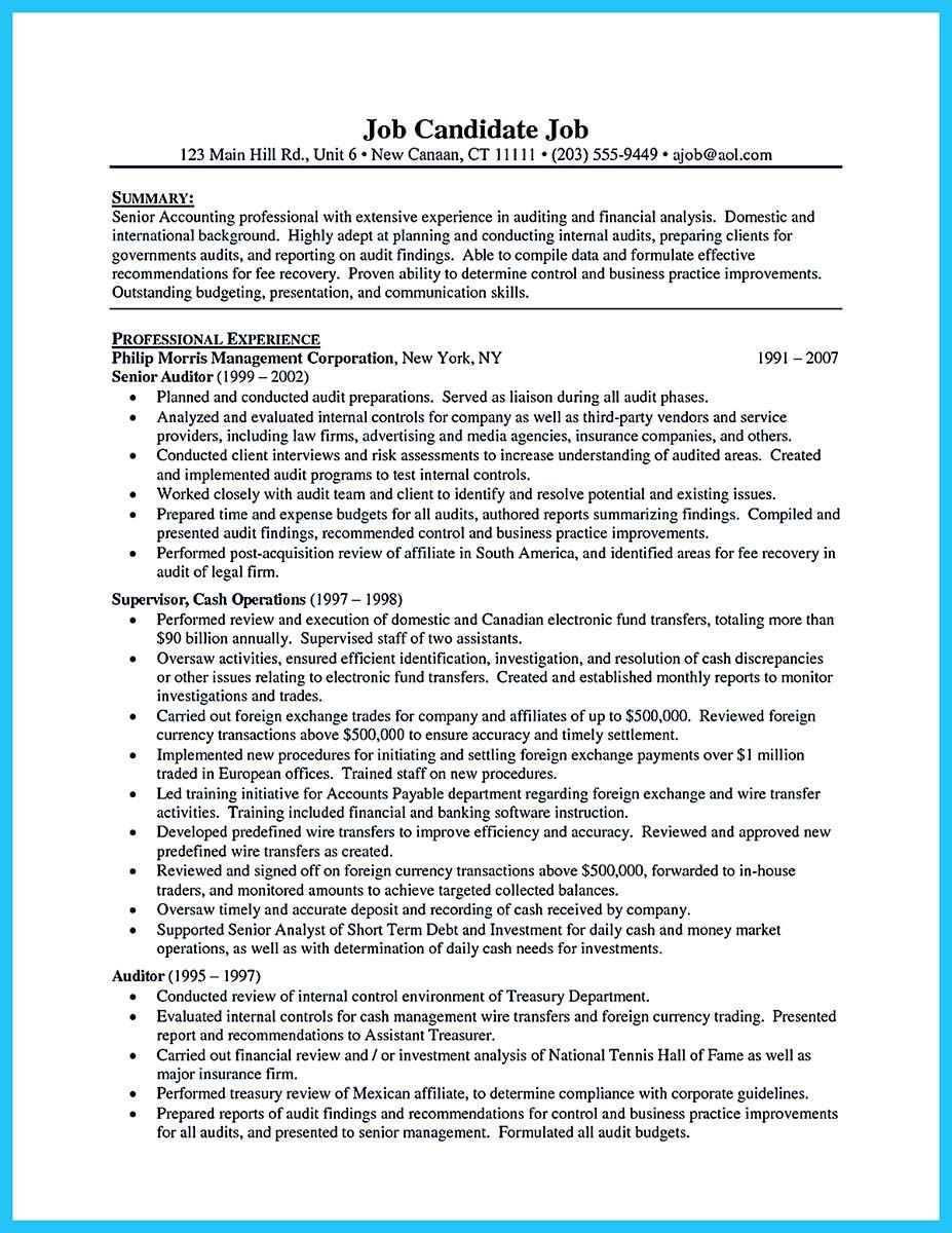 Auditor Resume Cool Understanding A Generally Accepted Auditor Resume Check More