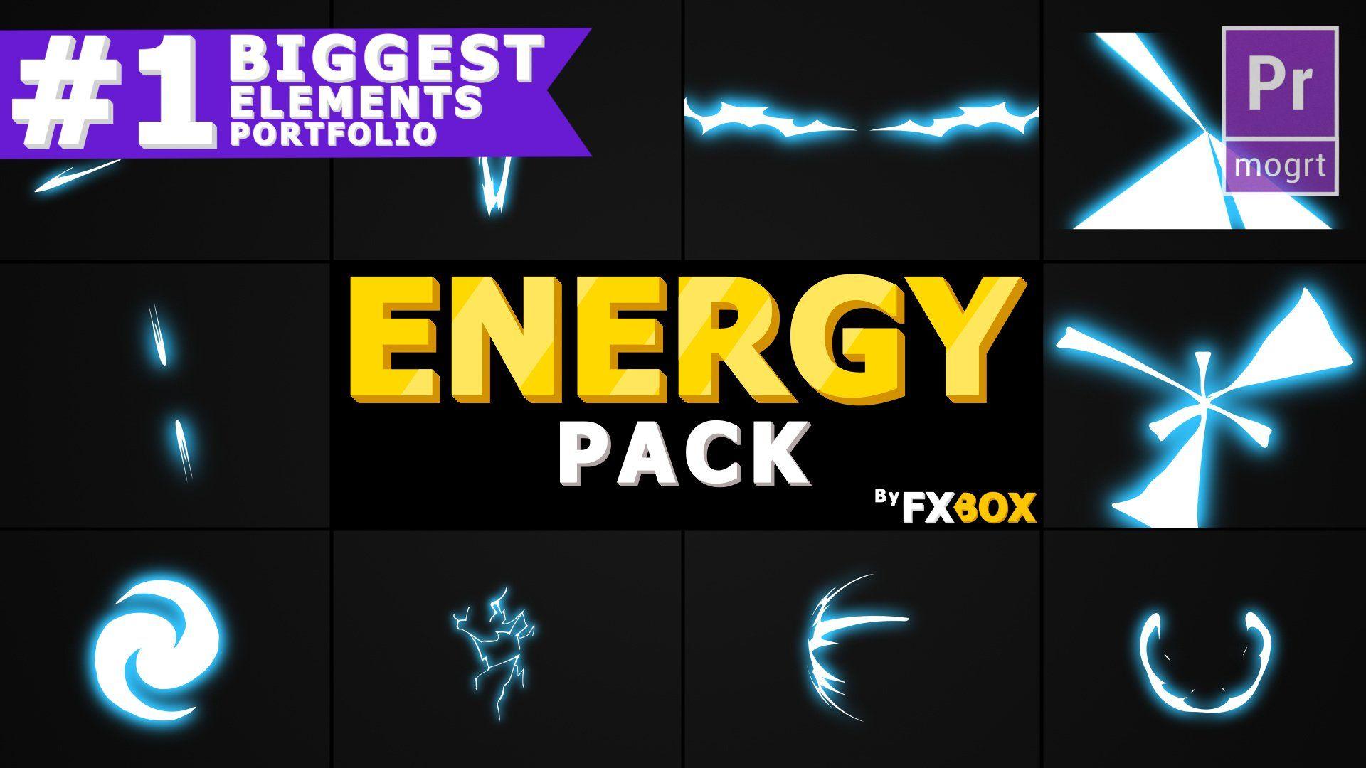 Flash FX ENERGY Premiere Pro Lightning logo, Templates