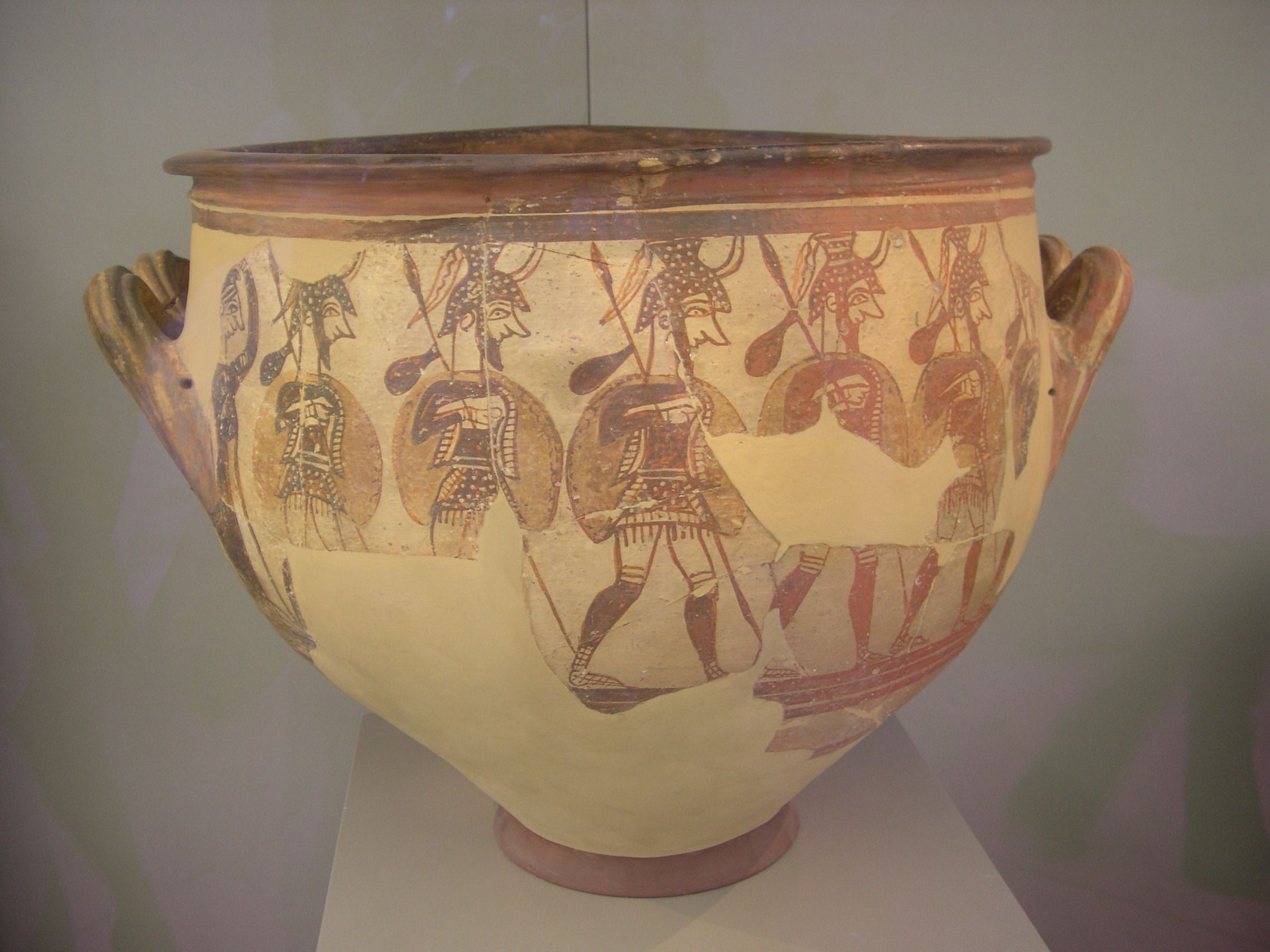 Late bronze agemycenaean age pottery from this time period late bronze agemycenaean age pottery from this time period depicting warrior men departing for battle from the house of the warrior krater my reviewsmspy