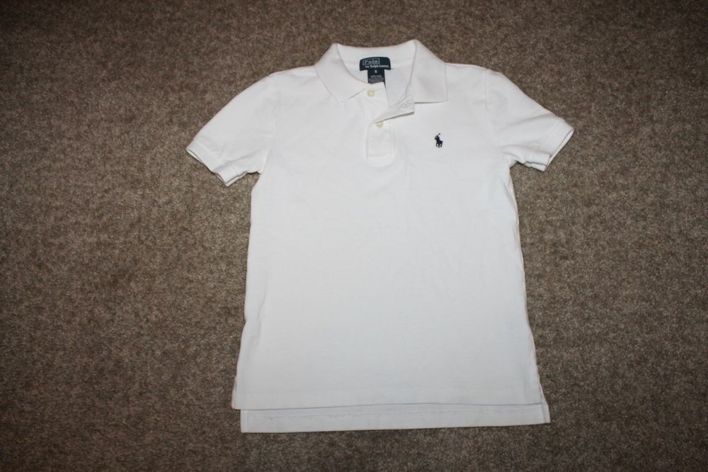 Ralph Lauren Boys White S/ S Polo Shirt W/ Pony Size 6 #RalphLauren #Everyday