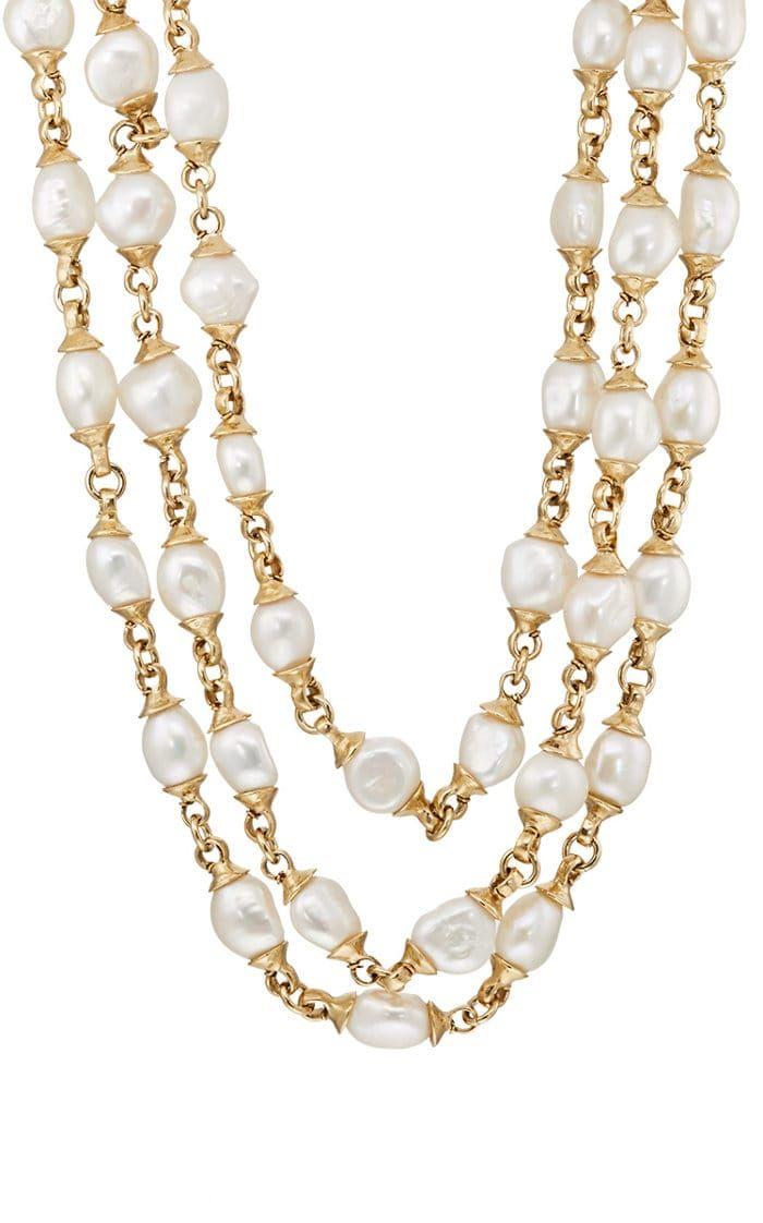 Goossens Paris Womens Pearl Necklace 28rW9Un