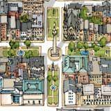 illustrated map map designs Pinterest Travel illustration