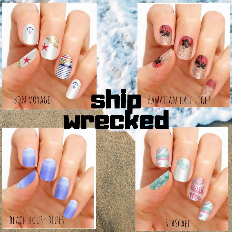 Beach Themed Color Street Nail Sets With Images Color Street Nails