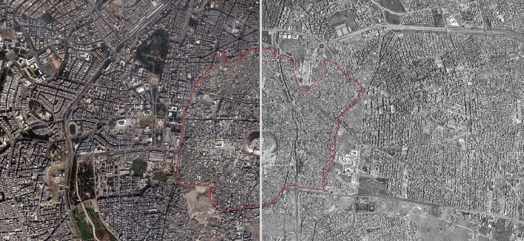 Satellite Imagery Shows Destruction Of Syrias World Heritage - Satellite map sites