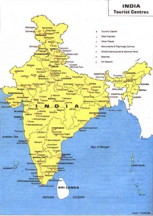 India Tourist Map india travel Pinterest India Tourist map