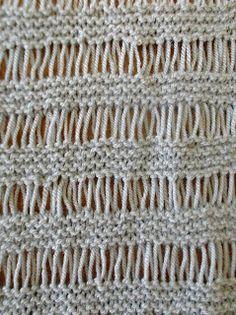 Little Knittle: Wrap Drop Stitch Tutorial + Wrap Drop ...