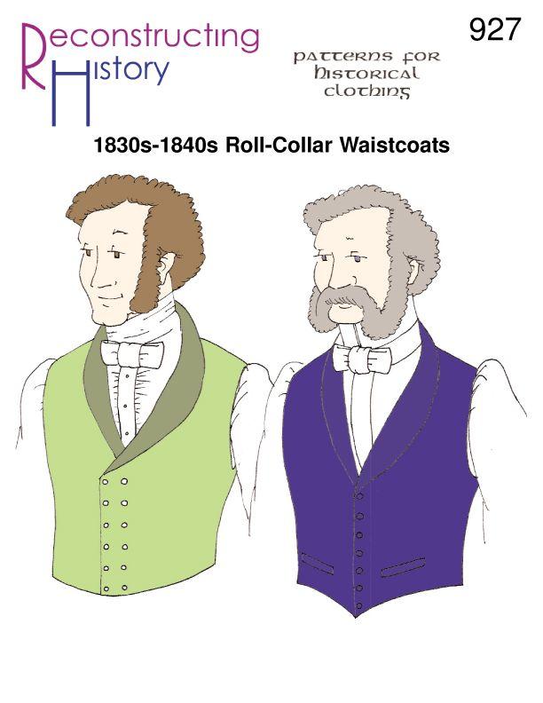 1830s Waistcoat pattern | 1830s Vest pattern | Early Victorian Roll ...