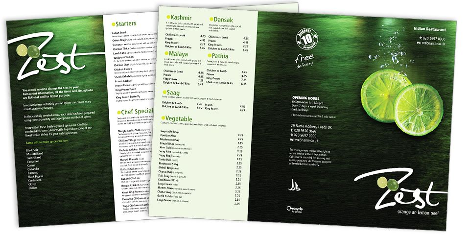 Modern Menu Designs for Restaurants – Restaurant Menu Design Templates