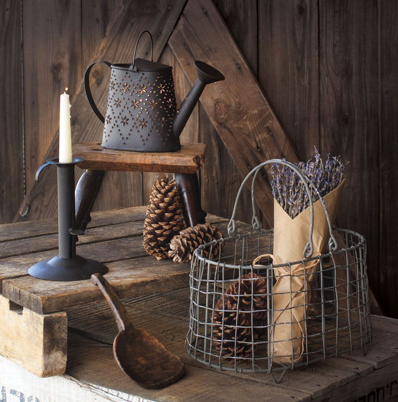 Add a variety of items in our metal baskets to create the