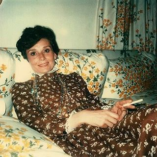 Audrey photographed at home by Andy Warhol in 1973 ❤️ - - #AudreyHepburn #oldhollywood #vintage #icon #polaroid #AndyWarhol