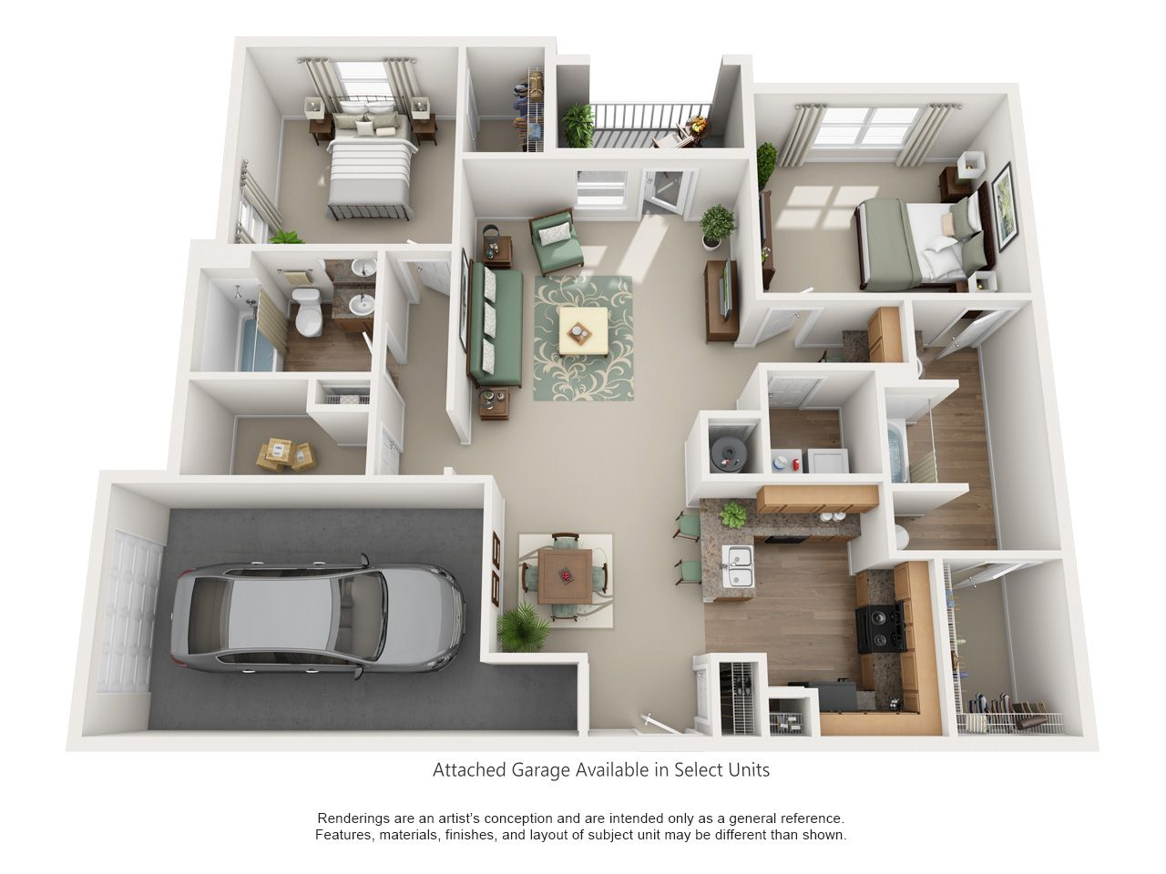 Luxury 1 2 And 3 Bedroom Floor Plans Apartment Decorating