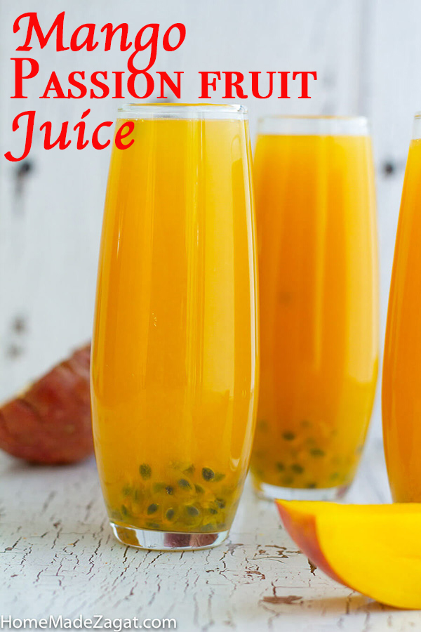 Mango Passion Fruit Juices Is A Refreshing Combination Of Fresh Mango And Passion Juices The Perfect Sum Passion Fruit Juice Fruit Juice Recipes Passion Fruit