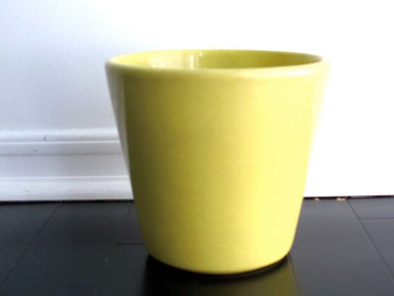 Vintage Yellow Ceramic Planter Usa Pottery 408 By Snapshotvintage 28 00 Yellow Ceramics Ceramic Planters Planters