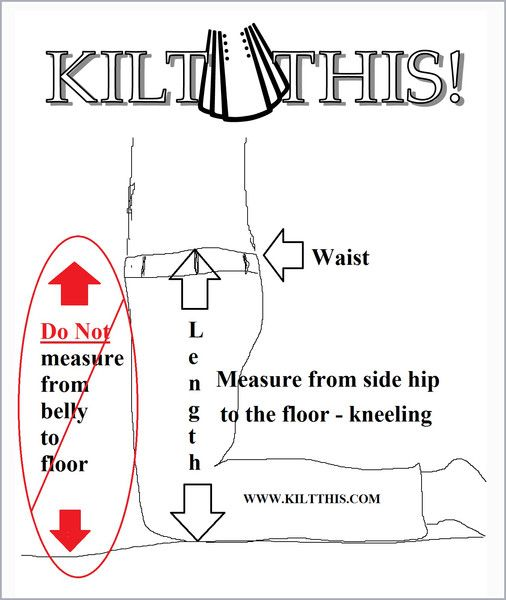 How to measure for a utility kilt by Kilt This