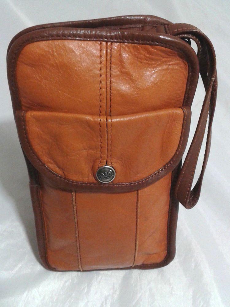 Men S Vintage Land Columbia Leather Travel Wallet Case Carry All Clutchlongwallet Duffel Bags