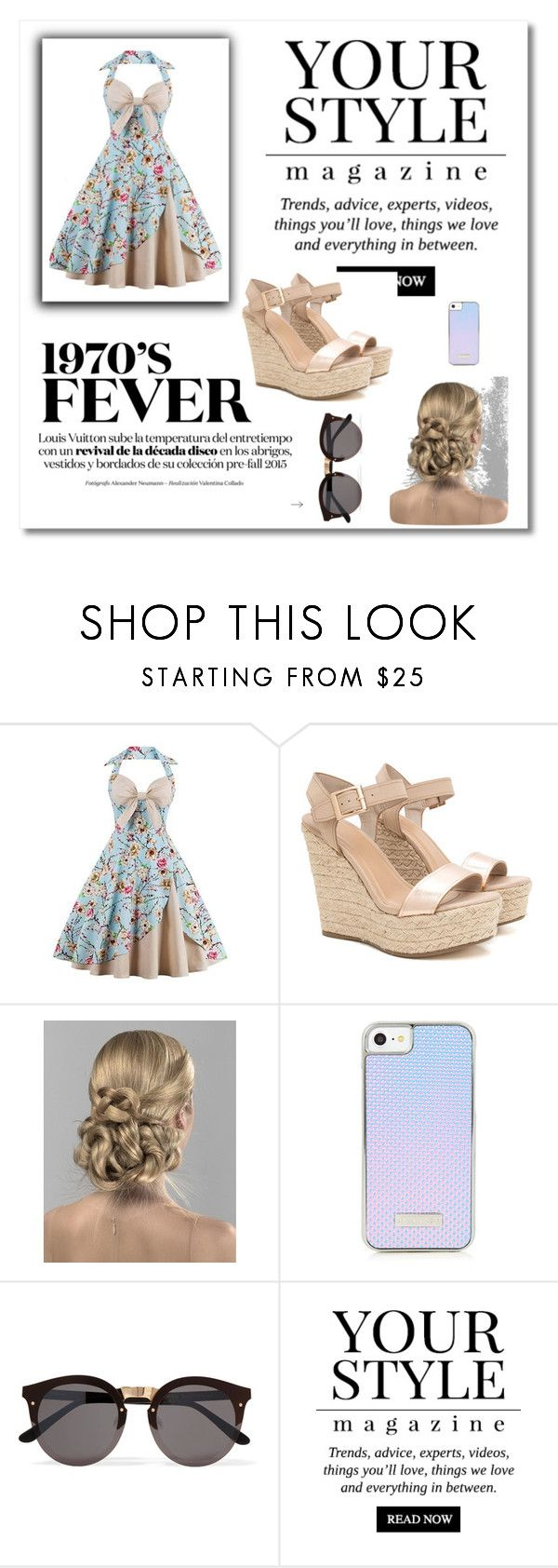 """""""style fast"""" by outfitmaker-cm ❤ liked on Polyvore featuring Illesteva and Pussycat"""