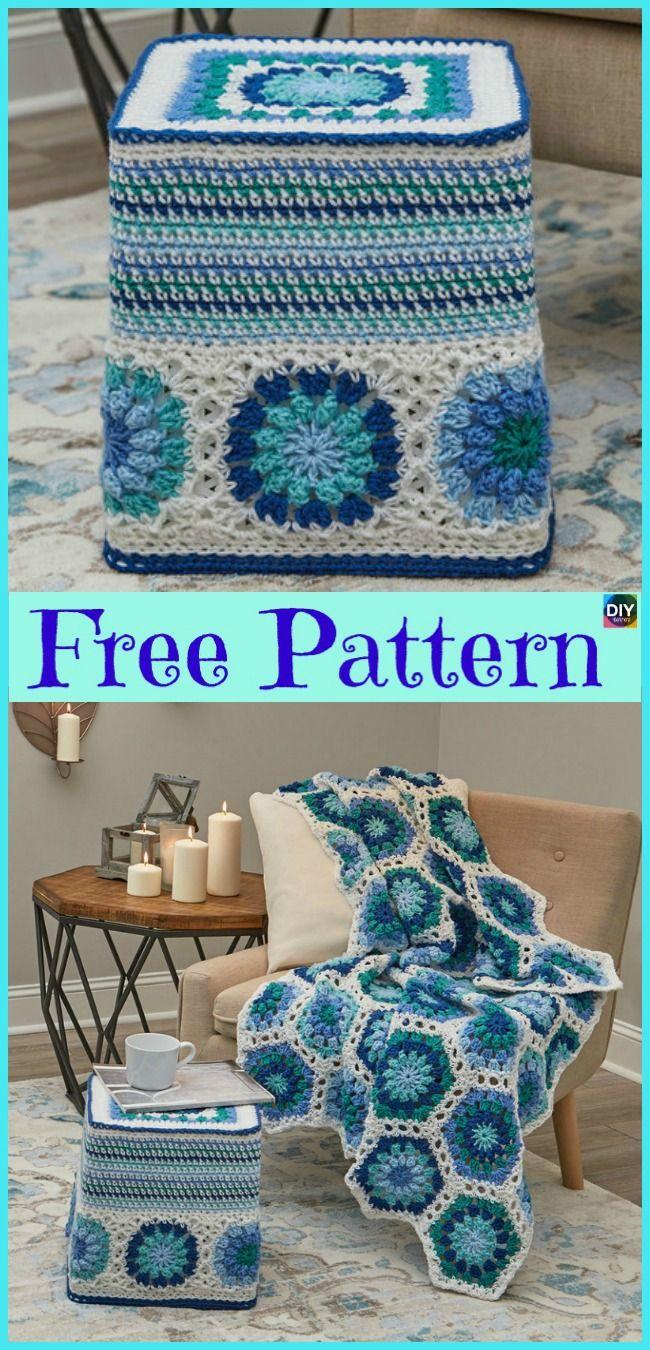 beautiful crochet hexagon free patterns pinterest crochet