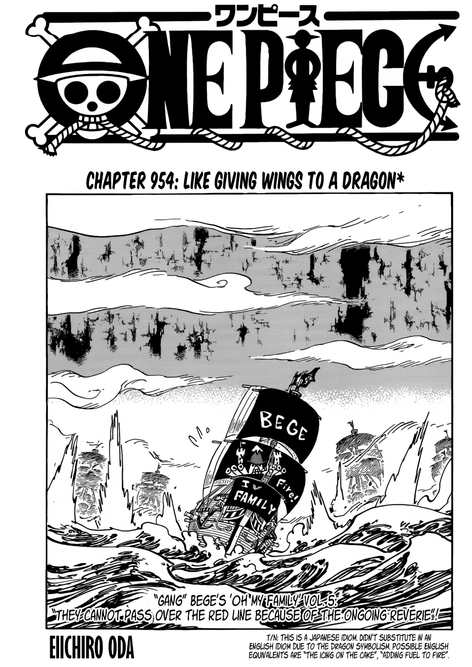 One Piece Chapter 954 Like Giving Wings To A Dragon One Piece Chapter Chapter Read One Piece Manga