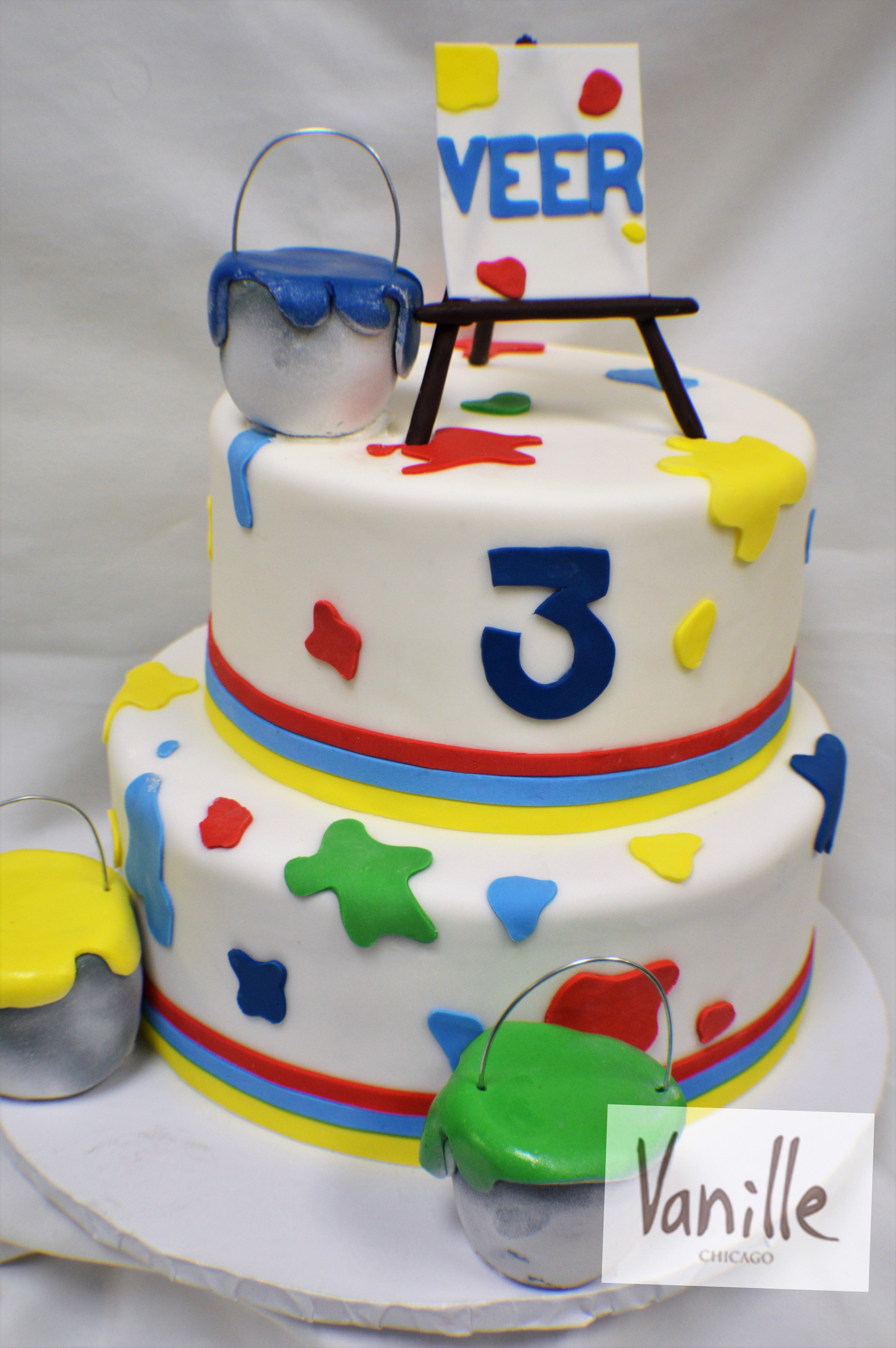 vanille chicago paint splat themed birthday cake vck55 vanille on minnie mouse birthday cakes chicago